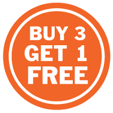 Buy 3 Get 1 Free Sign