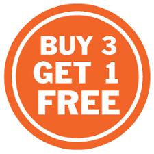 Buy 3 Get 1 Free Sign