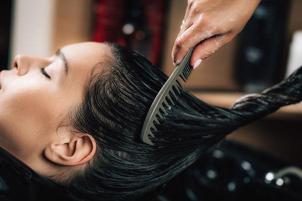 hairdresser-brushing-womans-long-black-h