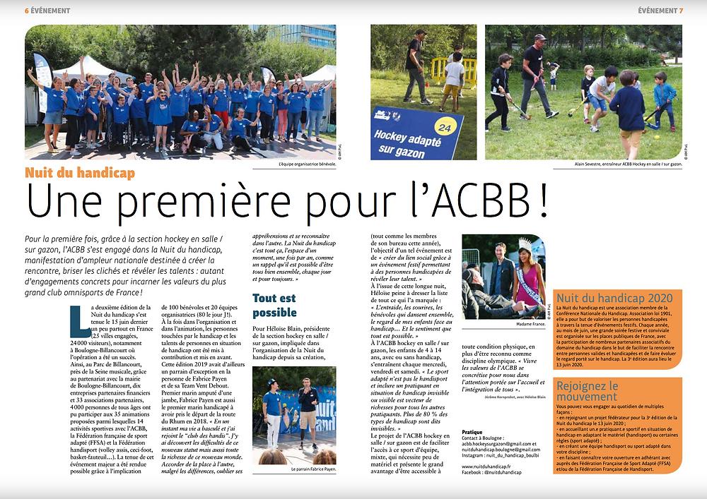 ACBB Le Mag et la Nuit du handicap 2019. Photos AM PixL