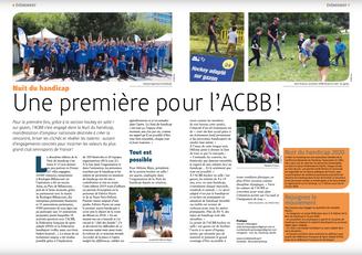 ACCB, Le Mag 349 et la Nuit du handicap