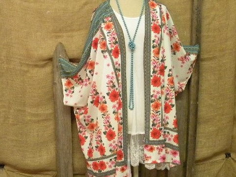 Colorful Floral Cardigan