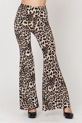 Leopard print long pants