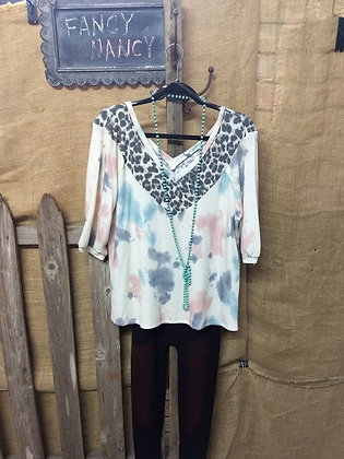 SOFT COMFY Tie-die top (SM to 3X)