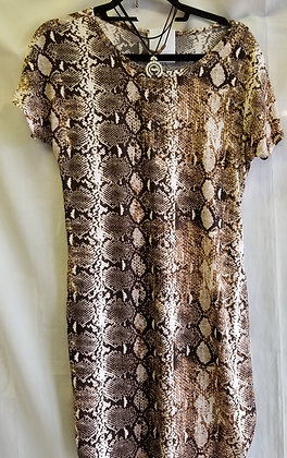 Snake skin pattern dress / tunic