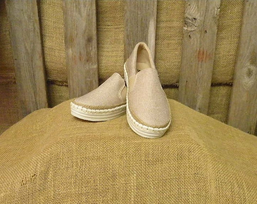 Taupe Canvas slip ons