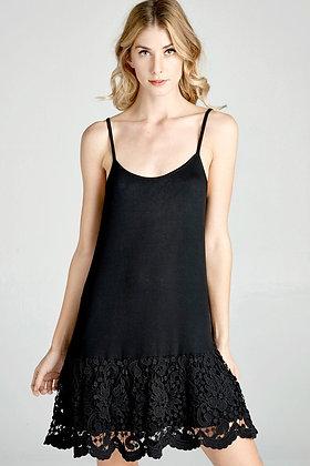 Black Dress extender w/adjustable straps