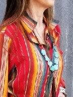 "36"" Turquoise stone necklace"