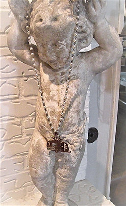 Vintage Pearl CAMPER necklace