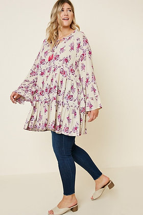 Purple Floral PLUS Tunic / Dress