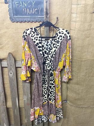 Super BOHO multi color/pattern dress
