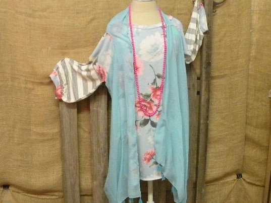 Blue duster (top sold seperately)