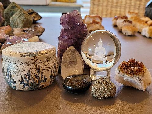 Glass Buddha Altar Kit