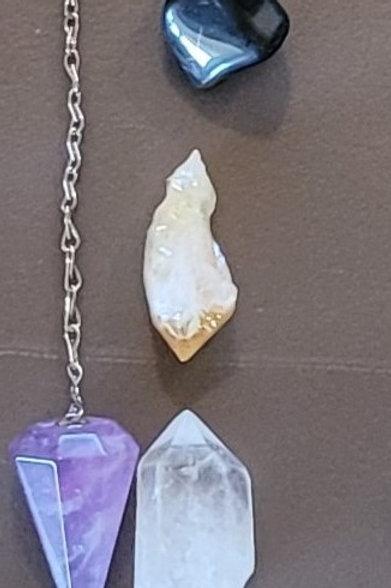 Spiritual Growth Crystal Kit: Amethyst Pendulum