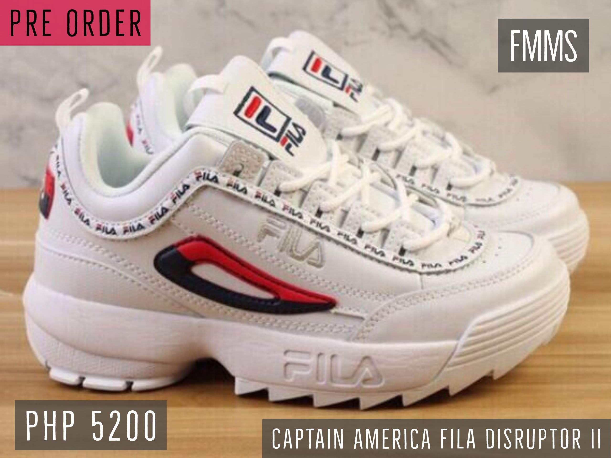 lace up in crazy price better Captain America FILA Disruptor II