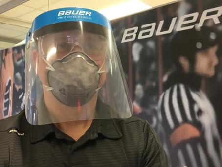 Hockey gear maker tweaks equipment for health workers