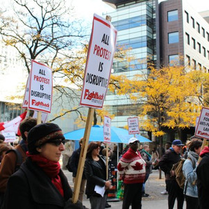 Protesters at Ryerson rally against Ford's free speech policy