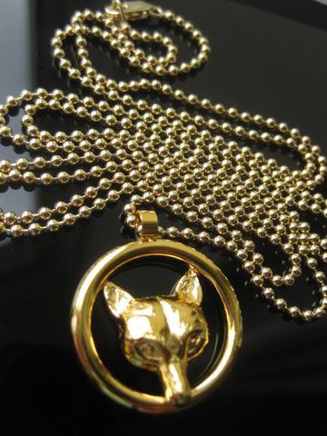 Fox Mask Ring Pendant