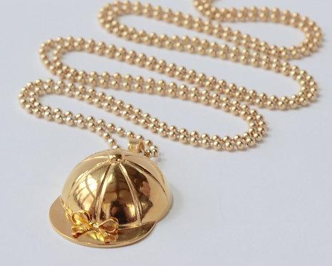 Jockey Cap Pendant - Gold