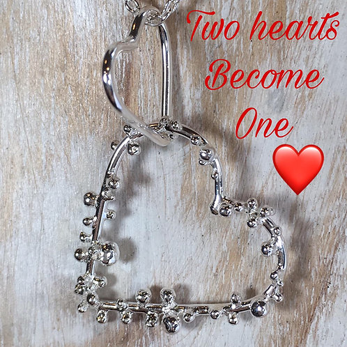 Two Hearts As One Pendant