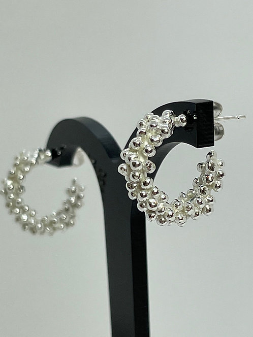 Chunky Bubble Hoop Earrings