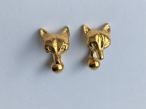 Fox Mask cufflinks - Plated in 22ct yellow gold