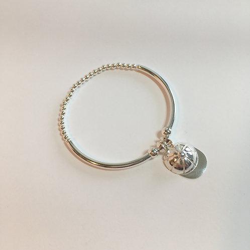 Jockey Cap Bracelet - Silver