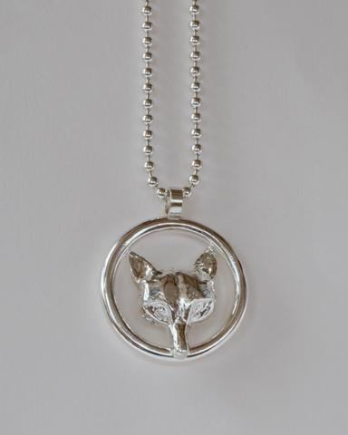 Fox Mask Ring Pendant