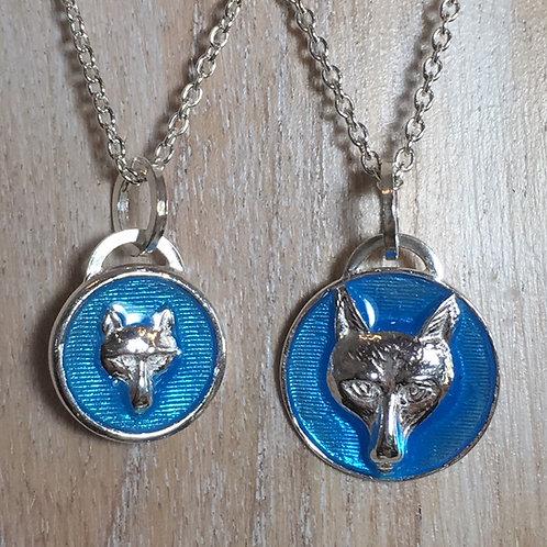 Enameled Fox Pendant