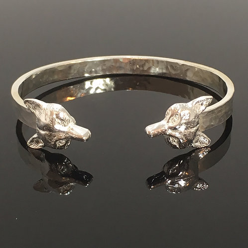 Double Fox Mask Bangle