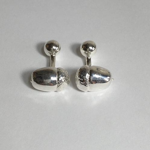 Ampleforth Acorn Cufflinks - Silver