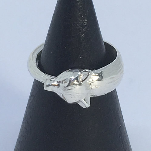Silver Fox Tail Ring