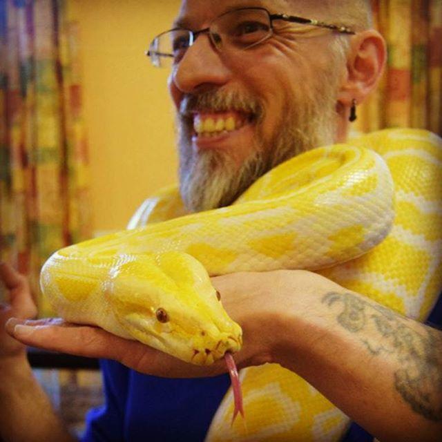 #sol & me at an #event at #Xmas #burmesepython #reptilesofinstagram #reptiles #snakesofinstagram #sn