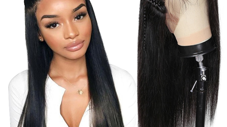 360 Lace Frontal Wig Brazilian Straight Hair Lace Frontal Wig 360 Lace Wig Make