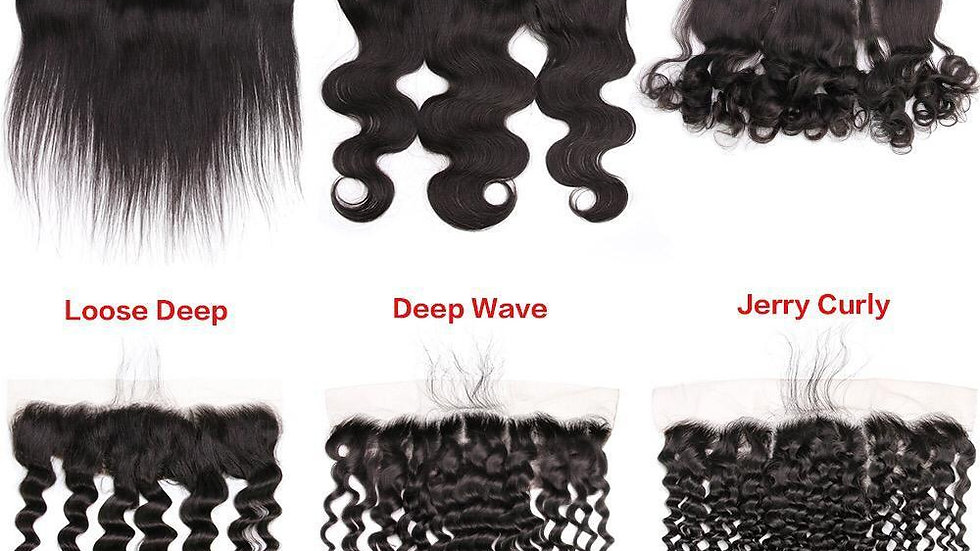Middle Part Design 10A 13x4 Frontal Brazilian Human Hair Closure with
