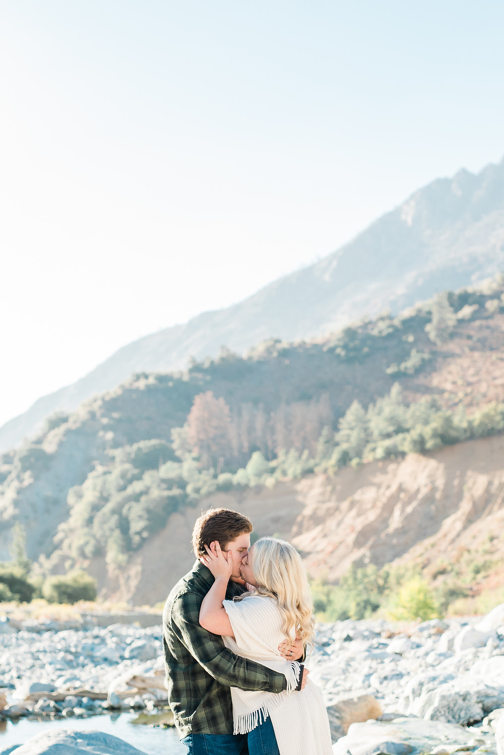 southern California mountain engagement session