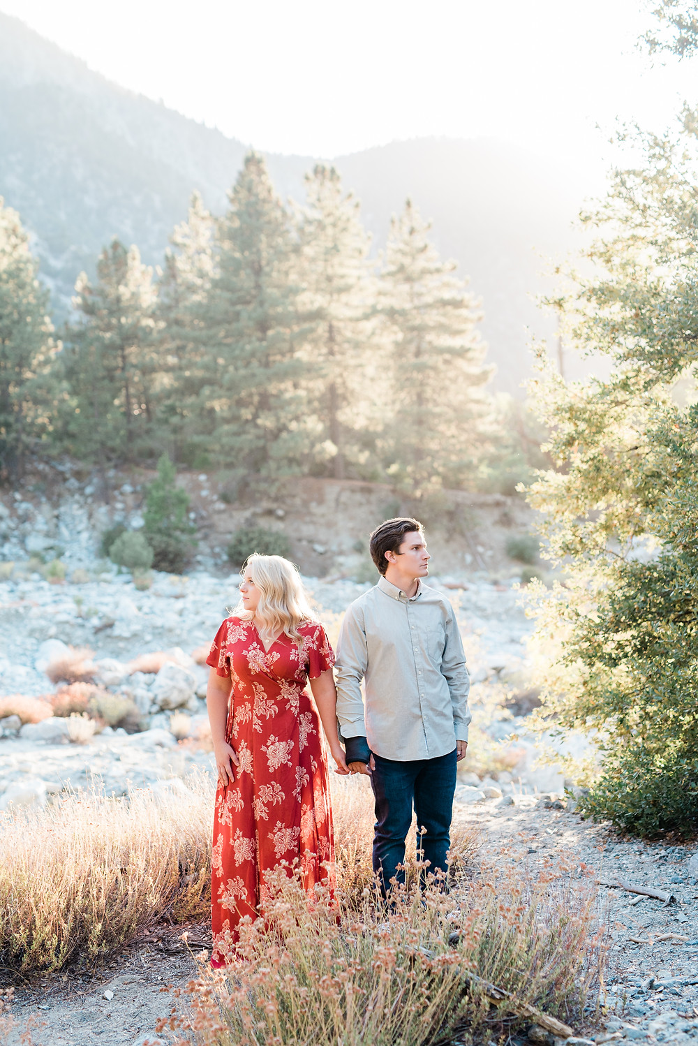 southern California mountain top engagement session