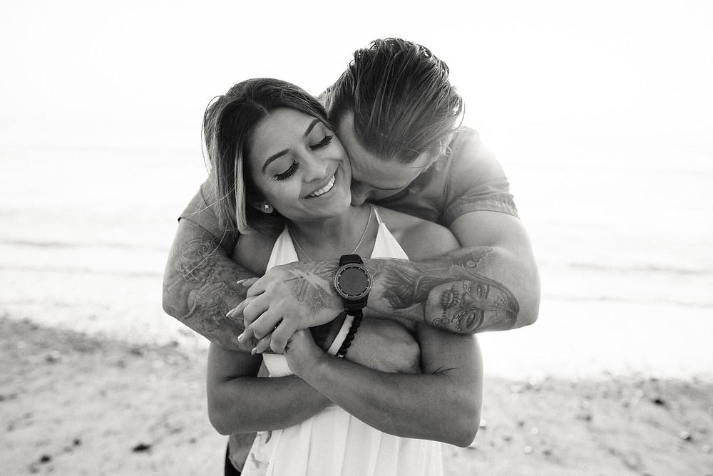 san clemente engagement photos kiss