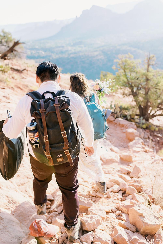adventurous Sedona mountain elopement