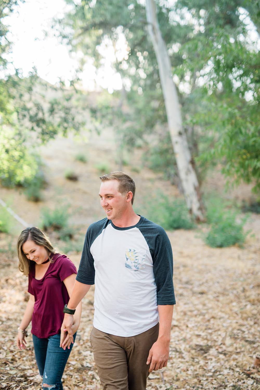 walking couple having fun in Murrieta.