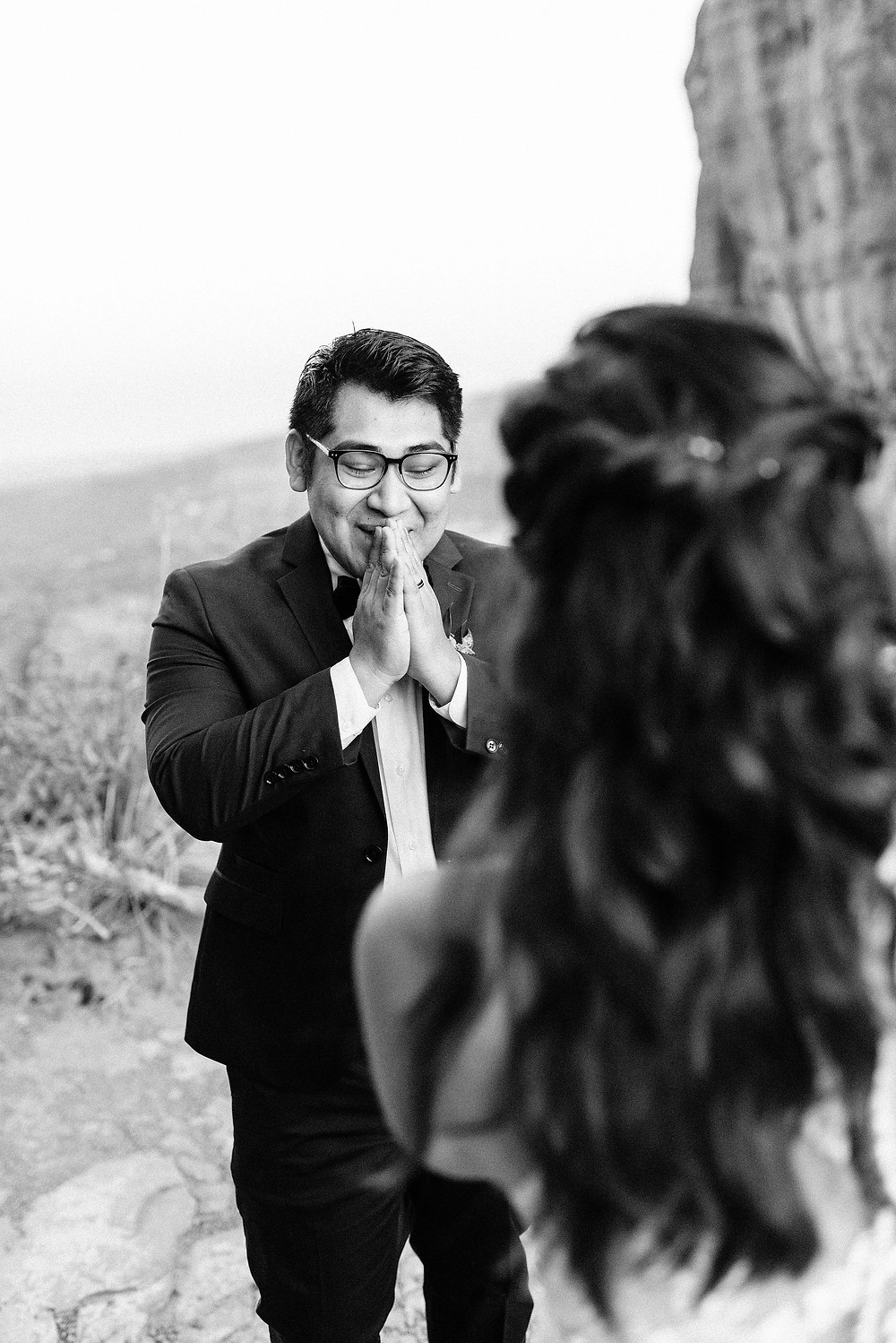 grooms reaction to first look in arizona