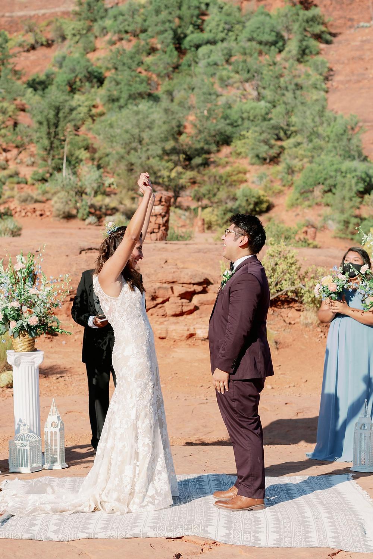 Sedona wedding ceremony at sunrise
