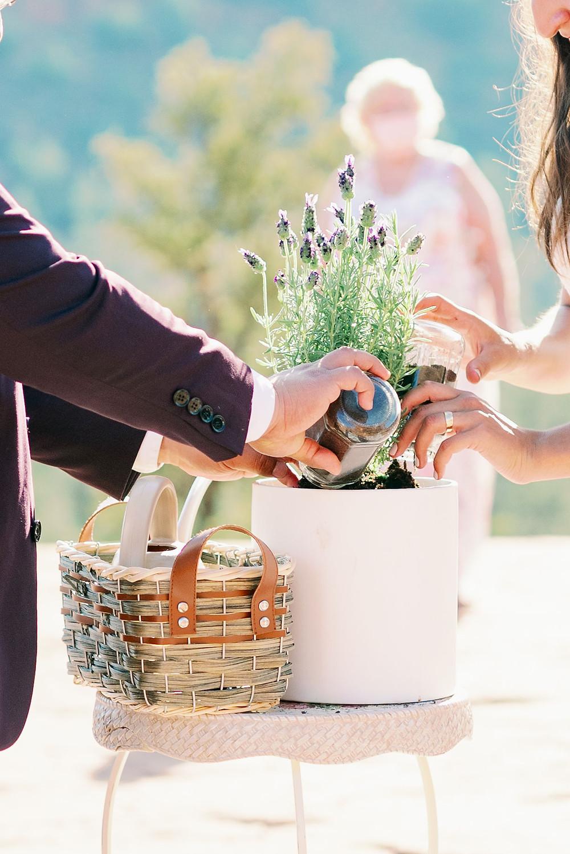 wedding ceremony flower pot