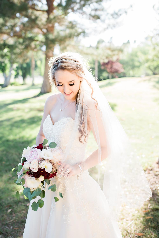 bride in wedding dress in Murrieta venue