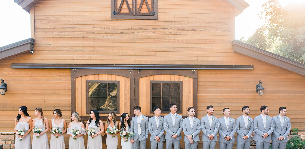 Bridal Party with Barn - Serendipity Garden Wedding Photography, Oak Glen Ca