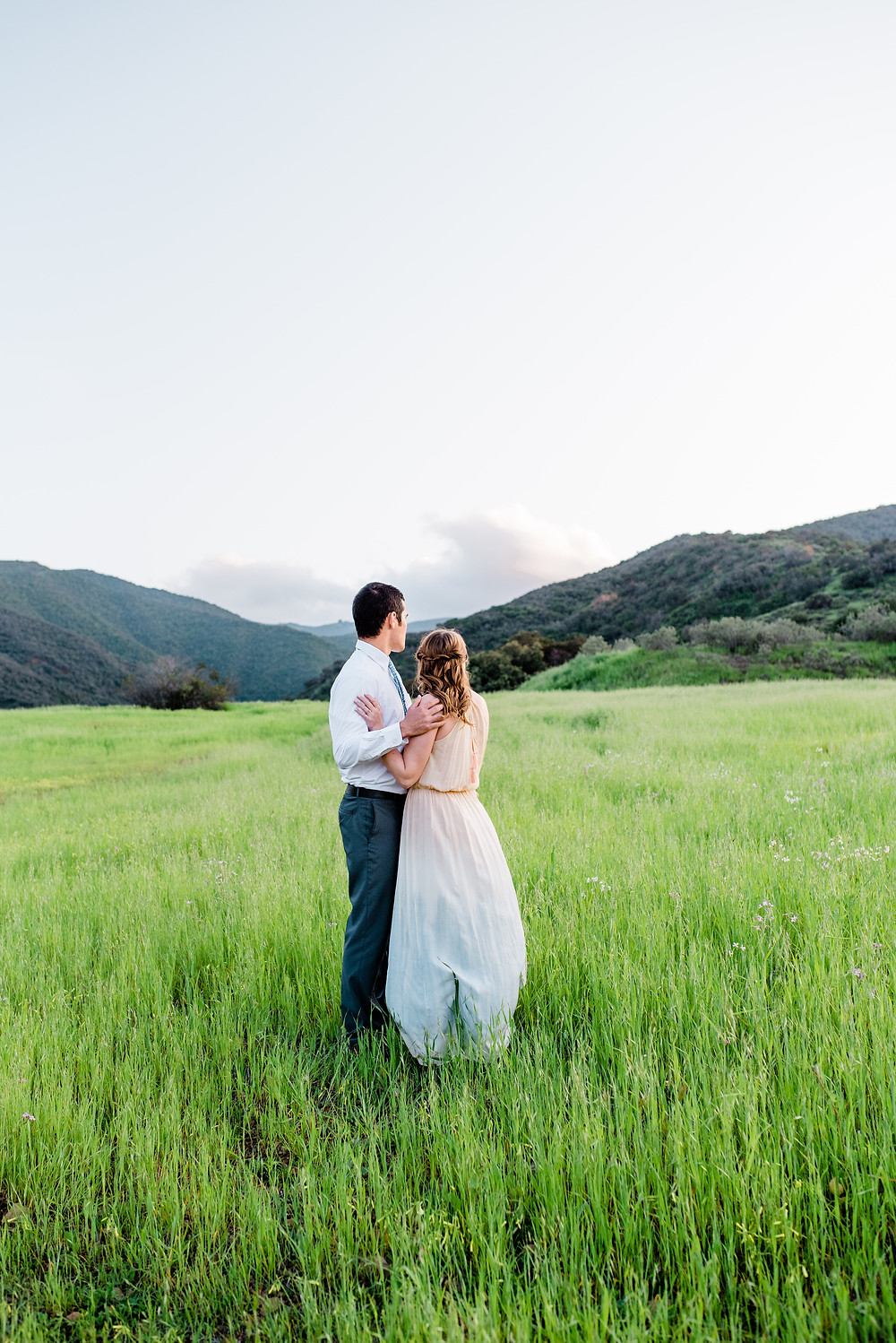 corona ca mountain backdrop engagement session