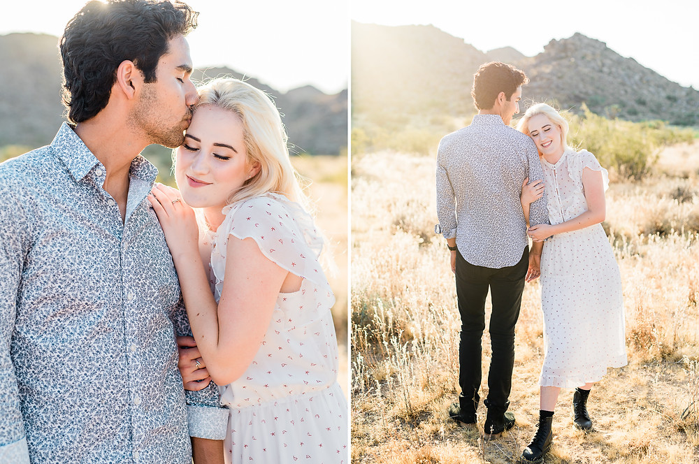 hipster couple in joshua tree