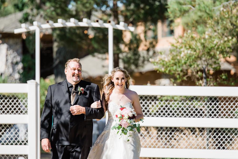 dad walking bride down the isle