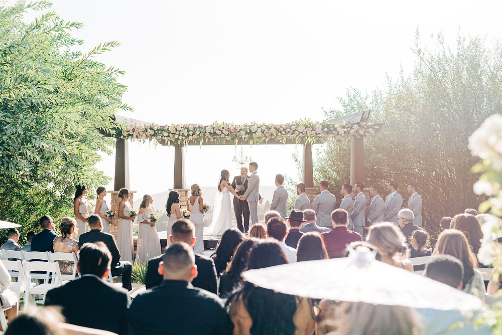 ceremony site Serendipity Garden Wedding Photography, Oak Glen Ca