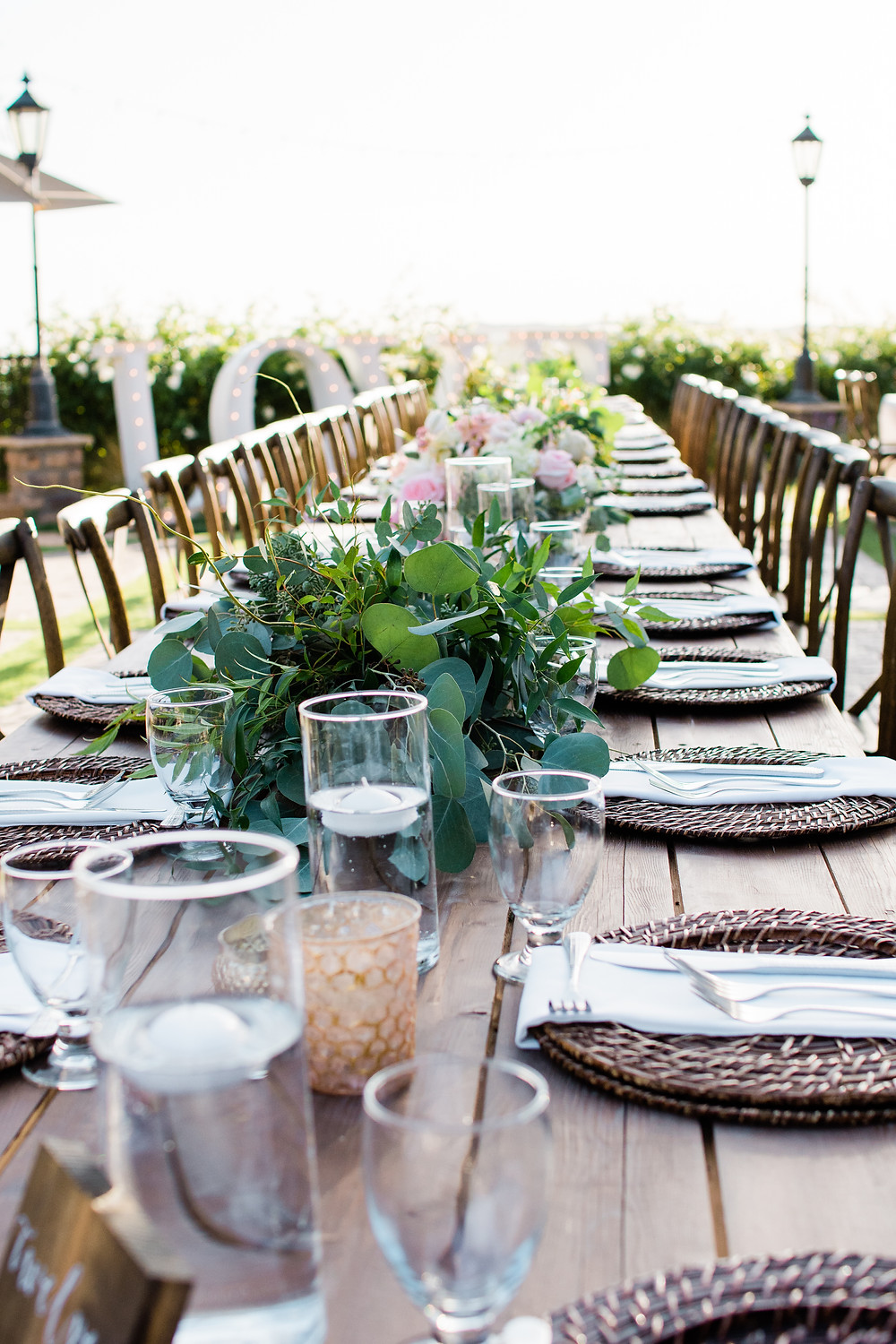 Serendipity Gardens Oak Glen Inland Empire Wedding Venue Table setting